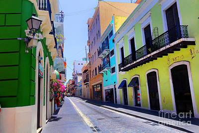Photograph - Old San Juan Street Scene by Steven Spak