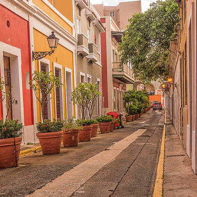 Photograph - Old San Juan Street by Thomas Pettengill