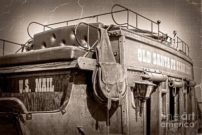 Old Santa Fe Stagecoach Art Print by Imagery by Charly