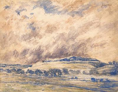 Stormy Weather Painting - Old Sarum In A Storm by Mountain Dreams