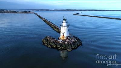 Photograph - Old Saybrook Outer Lighthouse by Michael Hughes