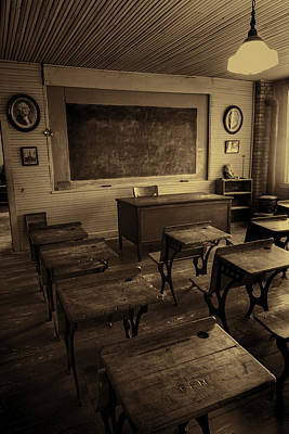 Wood Desk Photograph - Old School #2 by Stephen Stookey