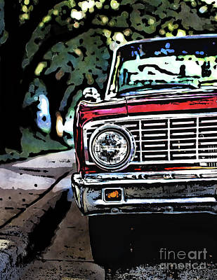 Digital Art - Old School Automobile Chrome by Phil Perkins