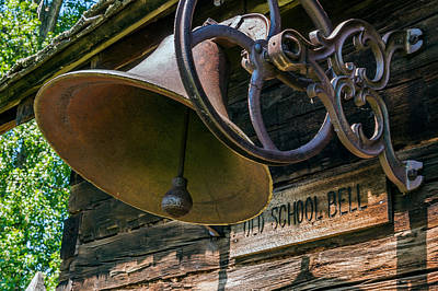 Photograph - Old School Bell by Lonnie Paulson