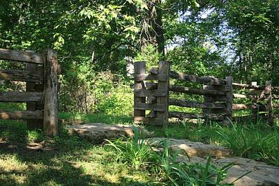 Photograph - Old School Double Post Split Rail by David Dunham
