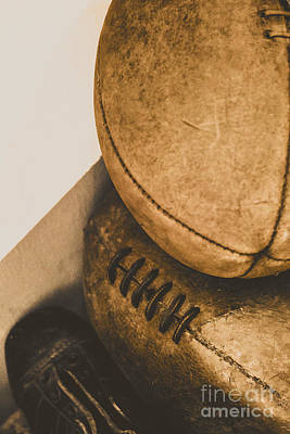 Footballs Closeup Photograph - Old School Football by Jorgo Photography - Wall Art Gallery