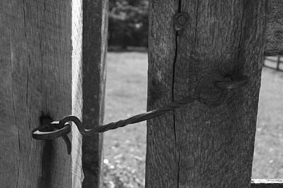 Photograph - Old School Hand Wrought Iron Gate Latch by David Dunham