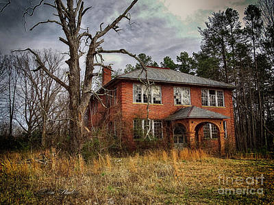 Digital Art - Old School House  by Melissa Messick