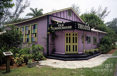Photograph - Old School House Theater Sanibel Island by Richard Nickson