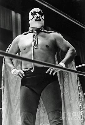 Old School Masked Wrestler Luchador Art Print
