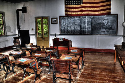 Photograph - Old School Room by Ronald Olivier