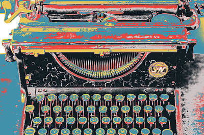 Typewriter Keys Mixed Media - Old School by Shay Culligan