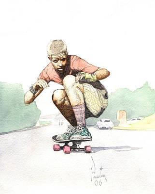 Old School Skater Art Print by Preston Shupp