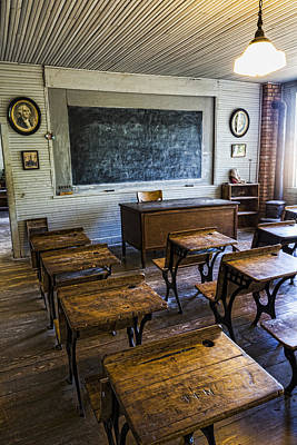 School Room Photograph - Old School by Stephen Stookey