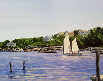 Perkins Cove Painting - Old School by Susan E Hanna