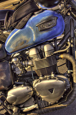 Corky Willis And Associates Atlanta Photograph - Old School Triumph Bonneville by Corky Willis Atlanta Photography