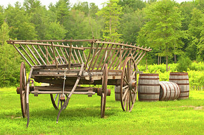 Photograph - Old School Wine Cart by Paul Mangold