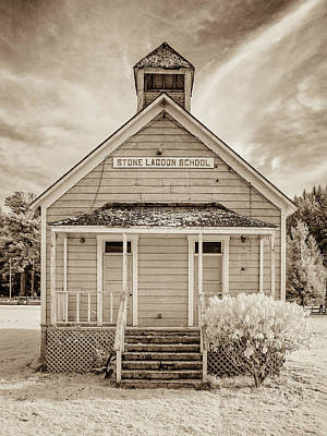 Photograph - Old Schoolhouse At Stone Lagoon by Greg Nyquist