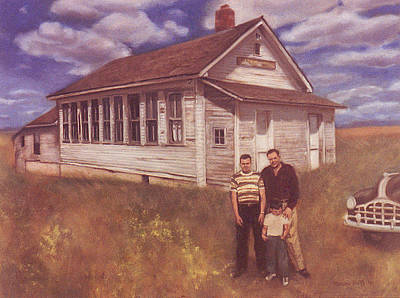Painting - Old Schoolhouse Revisited by Suzn Art Memorial