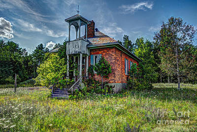 Photograph - Old Schoolhouse by Roger Monahan