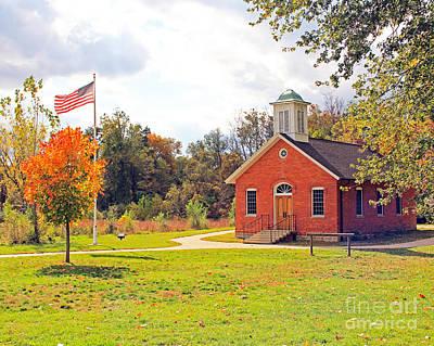 Old Schoolhouse-wildwood Park Art Print