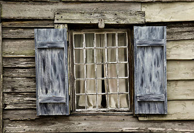 Old Schoolhouse Window Art Print by Frank Russell