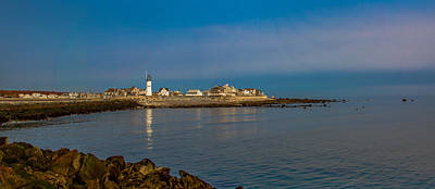 Photograph - Old Scituate Light From The Jetty by Brian MacLean