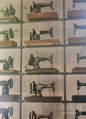 Photograph - Old Sewing Machine Wall by Terri Thompson