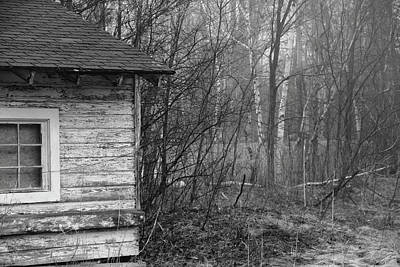 Photograph - Old Shack In The Fog by Brian Pflanz