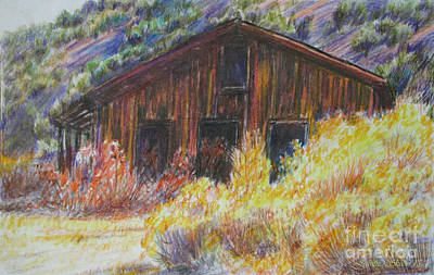 Painting - Old Shack In Utah by Jeanette Skeem