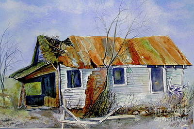 Wall Art - Painting - Old Shack On Manatee by Midge Pippel
