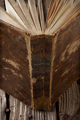Spine Photograph - Old Shakespeare Book by Garry Gay
