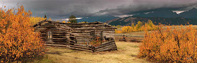 Photograph - Old Shane Cabin by Leland D Howard