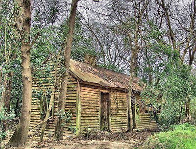 Pyrography - Old Shed 2 by Cathy Harper