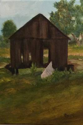 Painting - Old Shed by Betty Pimm