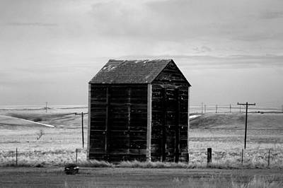 Telephone Poles Photograph - Old Shed Black And White by Jeff Swan
