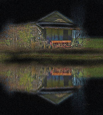 Photograph - Old Shed By A Creek by Cathy Harper