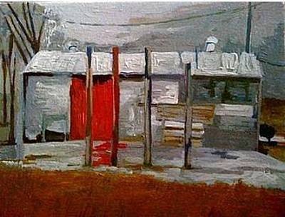 Intense Painting - Old Shed by Charlie Spear