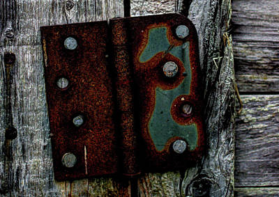 Photograph - Old Shed Hinge by Scott Carlton