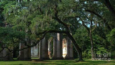 Photograph - Old Sheldon Church Historic Landmark by Dale Powell
