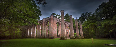 Photograph - Old Sheldon Church Panorama by Mark Andrew Thomas