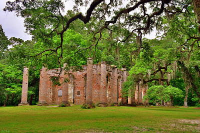 Photograph - Old Sheldon Church Ruins 2 by Lisa Wooten