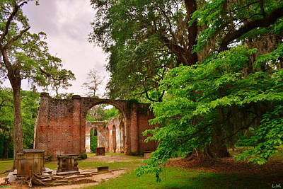 Photograph - Old Sheldon Church Ruins 3 by Lisa Wooten