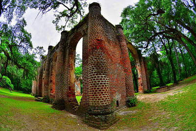 Photograph - Old Sheldon Church Ruins 4 by Lisa Wooten