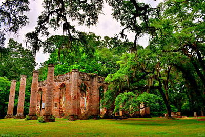 Photograph - Old Sheldon Church Ruins 5 by Lisa Wooten