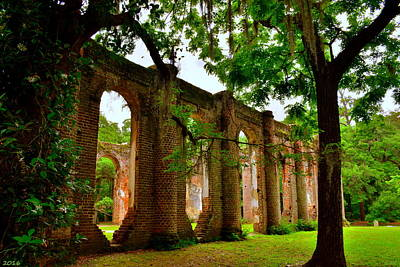 Photograph - Old Sheldon Church Ruins Beaufort Sc 2 by Lisa Wooten