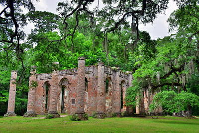 Photograph - Old Sheldon Church Ruins Beaufort Sc 3 by Lisa Wooten