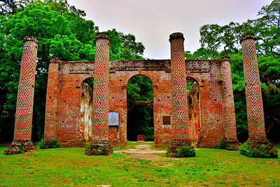 Photograph - Old Sheldon Church Ruins Beaufort Sc 4 by Lisa Wooten