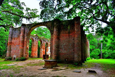 Photograph - Old Sheldon Church Ruins Beaufort Sc 5 by Lisa Wooten