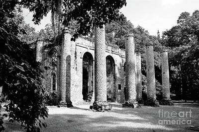 Photograph - Old Sheldon Church Ruins Infrared by Dale Powell